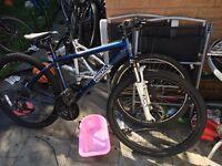 Pinnacle men's mountain bike without wheels fluid breaks