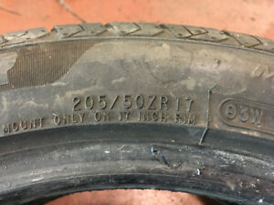 2x 205/50zr17 used tires $150