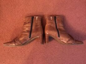 Clarks Tan ankle boots size 7