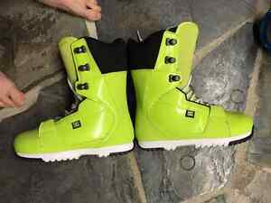 DC Lime green style Snow boarding boots