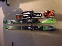 Atomic Automatic 102 172cm skis and skins