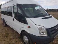 Mint Ford Transit 2.4 TD 430 LWB mini Bus camper 17 seater Minibus Wheelchair Lift Mileage 1 owner