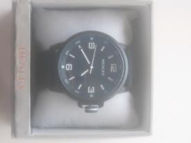 Henley Men's Black/Blue Watch