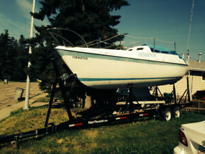 1974 27' Cal T2 TM Project Sailboat and 2008 Tuff Trailer for Sa