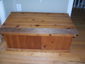 Pine Chest 34 by 20 and 13 Tall One Top Board Was Replaced