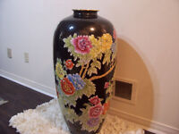 Decorative LARGE 3ft Chinese Ceramic Vase for sale MINT!