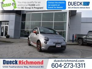 2016 Fiat 500e BASE  - Navigation, Heated Front Seats