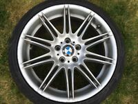 19 inch BMW M sport alloy with tyres