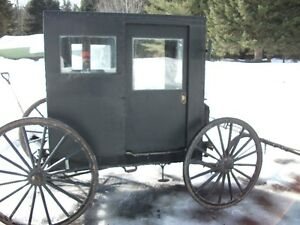 horse drawn enclosed buggy