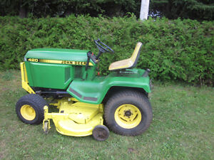 JOHN DEERE 420 RIDING LAWN TRACTOR 60 IN CUT TIMMINS