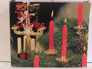 RED CHRISTMAS TREE CANDLES 20 IN BOX London Ontario image 2