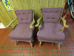 Solid wood rocker chairs