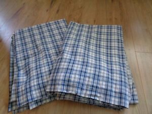Blue+White plaid curtains