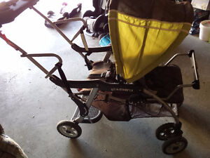 baby bathtub$3 double stroller$55
