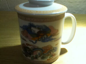Tibetan Art work Coffee Mug with Lids