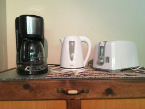 Coffee Maker, Toaster and Kettle