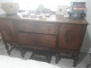 Antique dresser and armoire