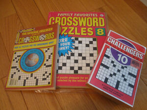 THREE CROSSWORD PUZZLE BOOKS