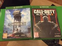 Battlefront and black ops 3 Xbox one games
