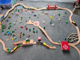 Wooden train set