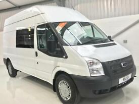 FORD TRANSIT EX MOD 9 / 6 SEATER LWB T350 CREW COMBI VAN DIRECT MINISTRY DEFENCE