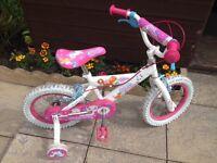"""Girls bike 14"""" wheels"""