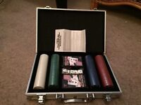 Casino Poker Chips in Carry Case
