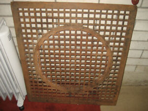 Vintage Cast Iron Floor Grate - see PHOTO's for re-purpose