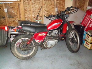 1980 honda xl 250 enduro,runs and drives excellent