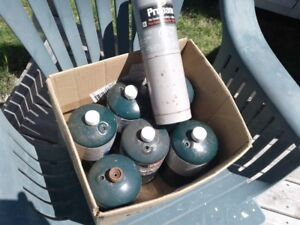 Coleman propane cylinders lot of 7