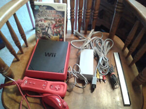 Red Wii Mini With Super Smash Brothers For Trade or Cash