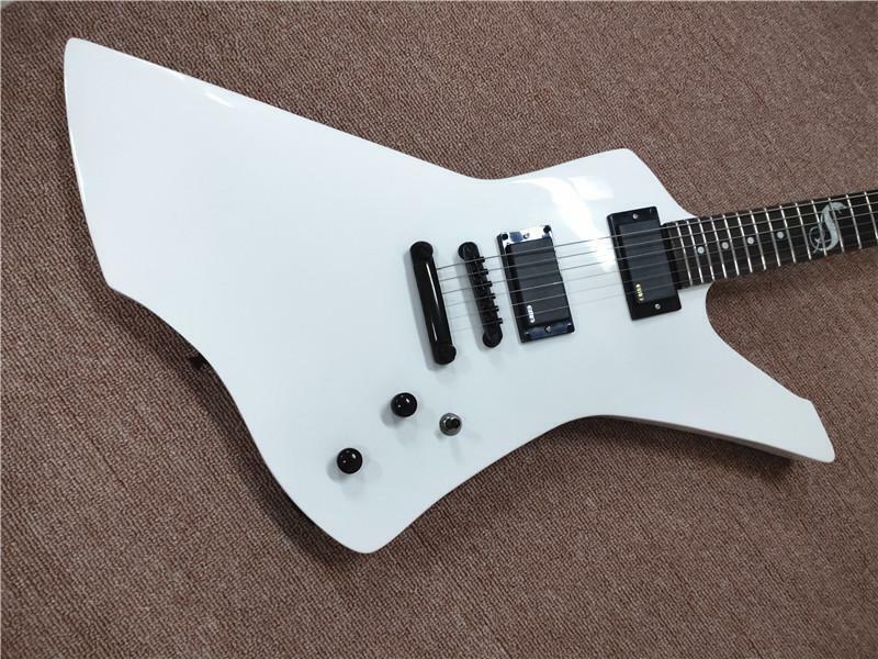 Custom James Hetfield Alien Metal Rock Electric Guitar White Free Shipping