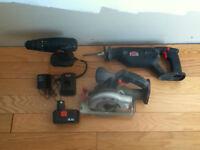 JOBMATE Cordless tools Drill, Circular Saw and Reciprocating saw