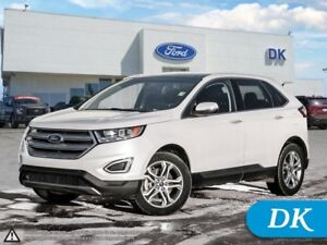 2016 Ford Edge Titanium w/Leather, Nav, Pano Roof, Htd Steering!