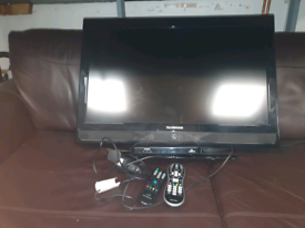 49. 32inch TV with remote and free view