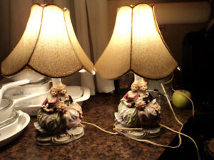 Pair of  Pretty Vintage Lamps