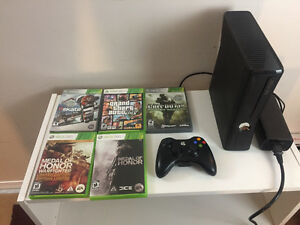 Xbox 360, wireless controller, 5 games