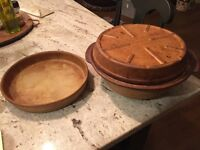 Pampered chef roaster & deep dish pie plate