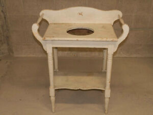 VINTAGE WASH STAND - White - Might be Antique