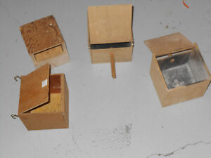 4 BIRD NEST BOX FOR CANARYS , FINCHES , LOVEBIRD ECT.