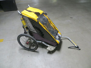 Chariot Cheetah with bike attachment