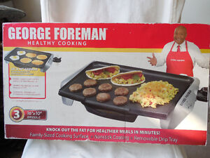 George Foreman Griddle.  10-inch x 16-inch Family sized Griddle