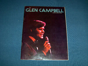 VINTAGE GLEN CAMPBELL SOUVENIR PICTURE BOOK-1972-COUNTRY MUSIC