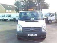 Ford Transit T350 S/CAB 100PS CAGED TIPPER DIESEL MANUAL WHITE (2014)