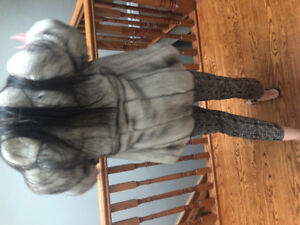 Blue Fox Fur Coat (women) small