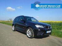 2012/62 BMW X3 2.0 20D M SPORT XDRIVE AUTOMATIC 5DR BLACK - WIDESCREEN PRO NAV