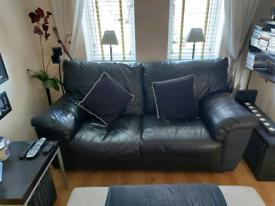 Modern 2/3 seater leather sofa