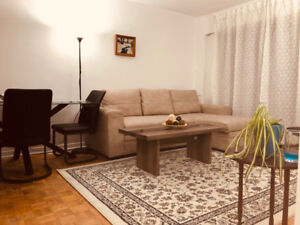 Fully Furnished 1 Bedroom Apartment - Heart of Montreal (Dec. 1)