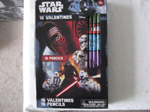 2 Star Wars-16 Valentine/16 Pencil Sets-New/never opened-$5 lot