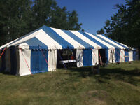 Party tent and transport trailer for sale
